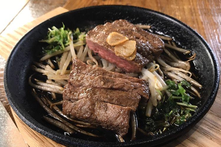 画像:見蘭牛のステーキ